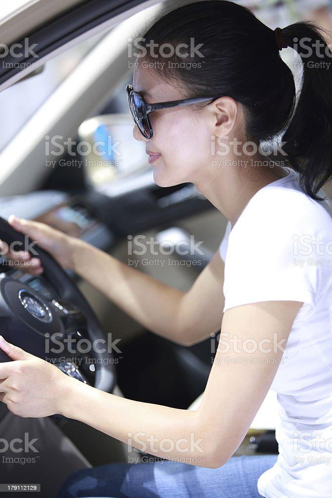 woman driving royalty-free stock photo