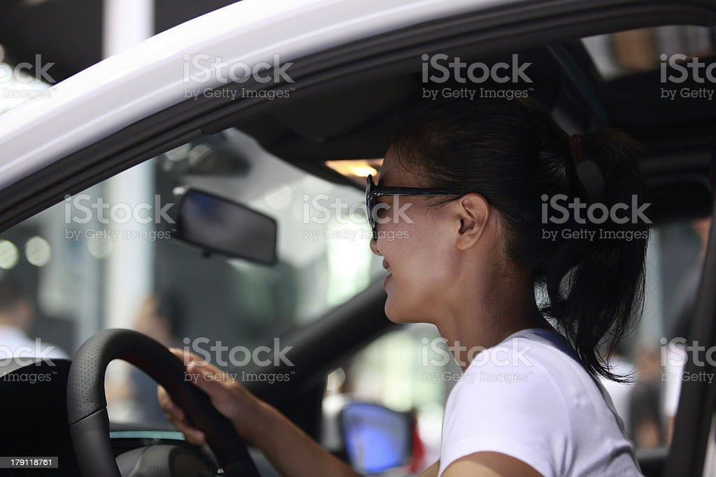 woman driving royalty-free stock photo