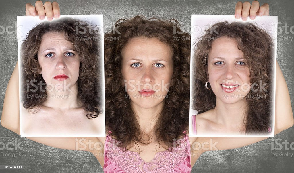 woman emotions royalty-free stock photo