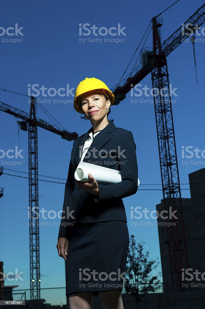 Woman Engineer royalty-free stock photo