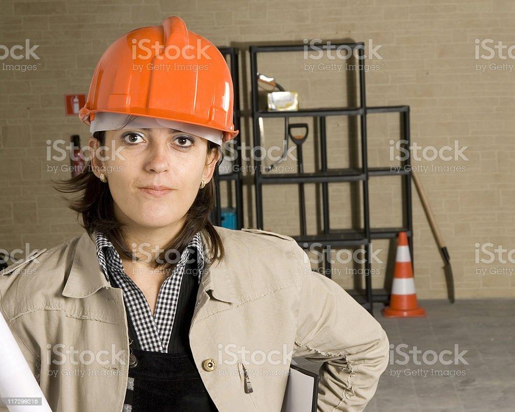 Woman engineer series royalty-free stock photo