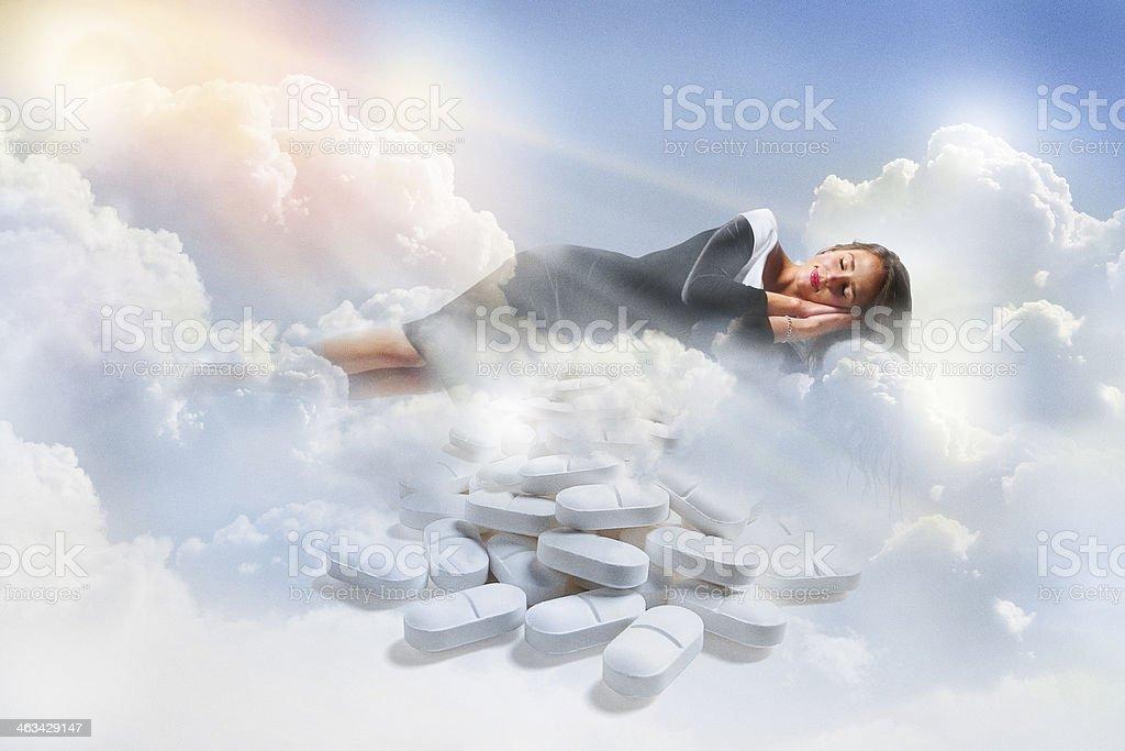 Woman Enjoying A Restful Sleep stock photo