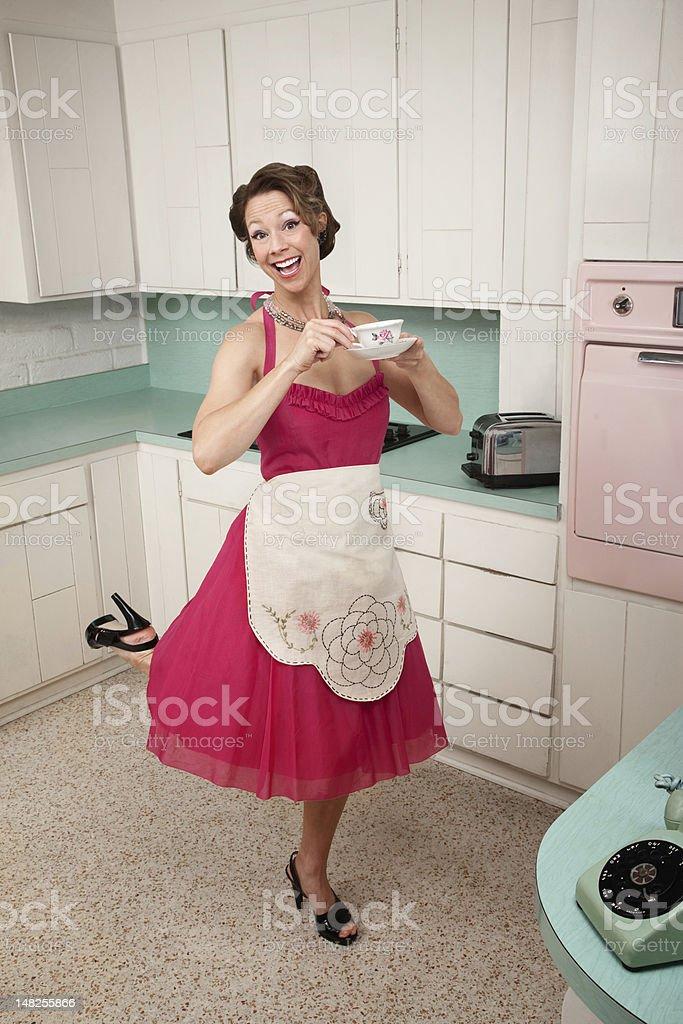 Woman Enjoying Coffee stock photo