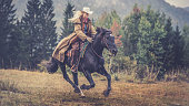 Woman enjoying horse riding