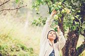 Woman Enjoying in her Garden