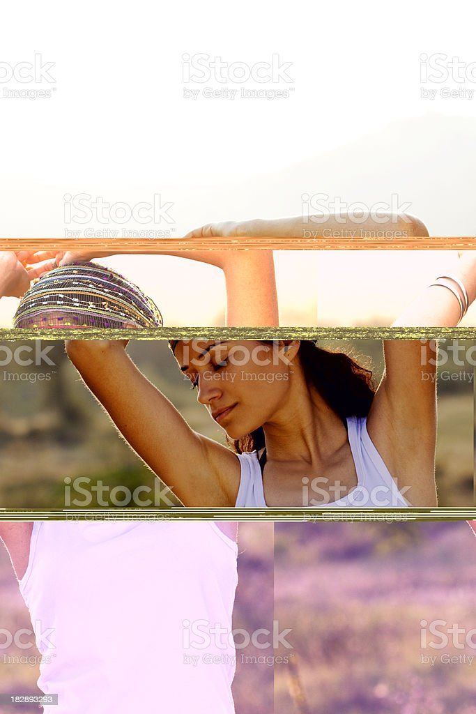woman enjoying royalty-free stock photo