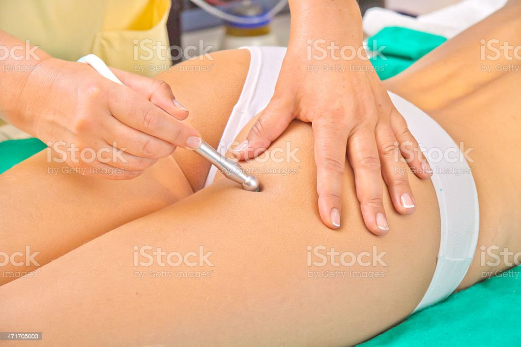 Woman enjoying the treatment in a Spa center royalty-free stock photo