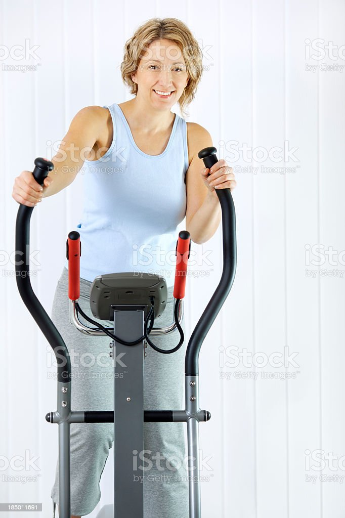 Woman Exercise At Home. royalty-free stock photo