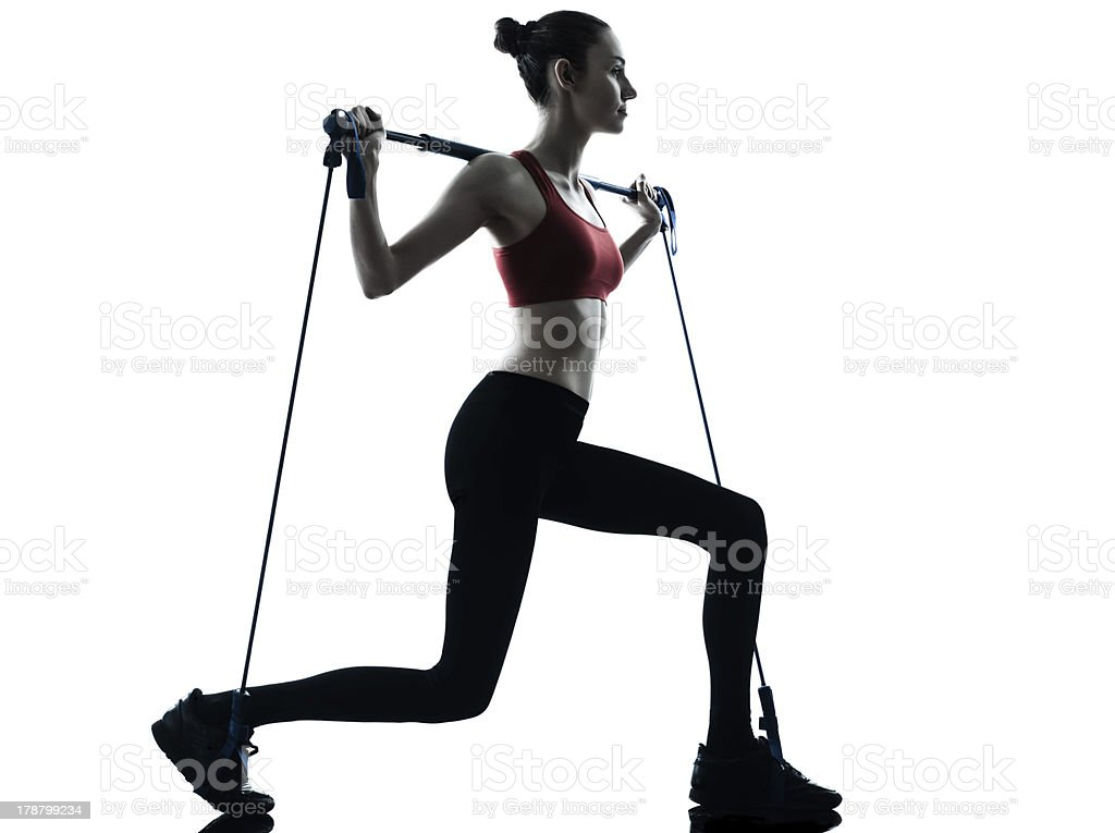 woman exercising gymstick royalty-free stock photo