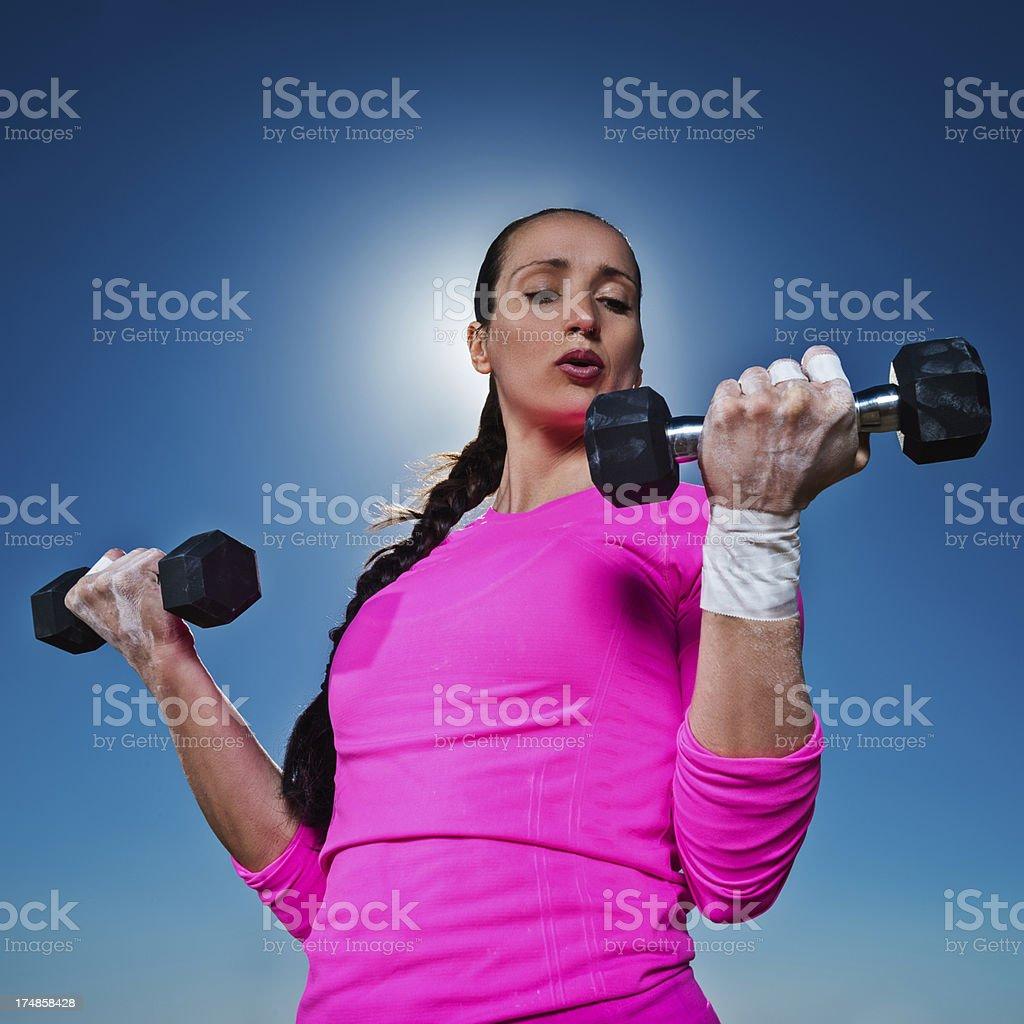 Woman exercising royalty-free stock photo