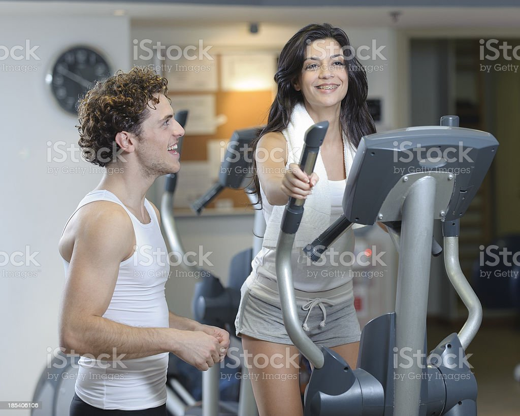 Woman Exercising royalty-free stock photo