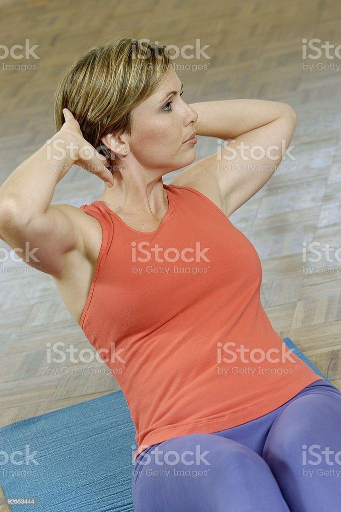 Mujer el ejercicio foto de stock libre de derechos