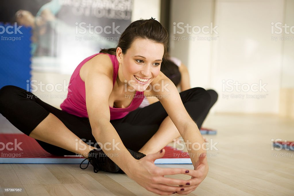Woman exercising XXL royalty-free stock photo