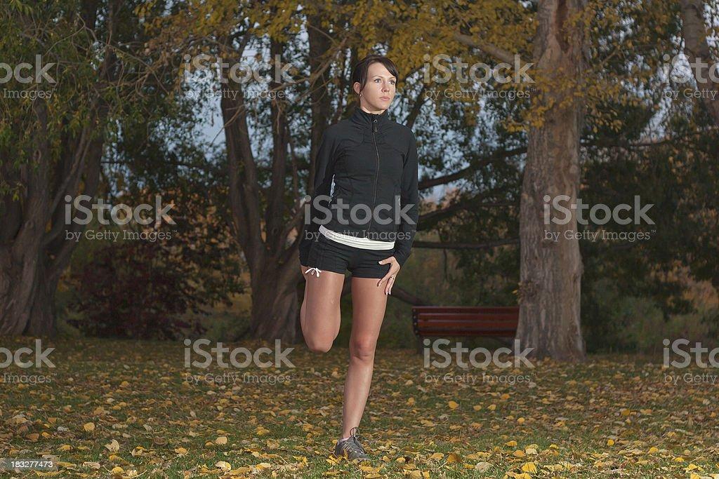 Woman Exersizing stock photo