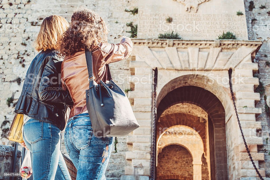 Woman Exploring the City stock photo