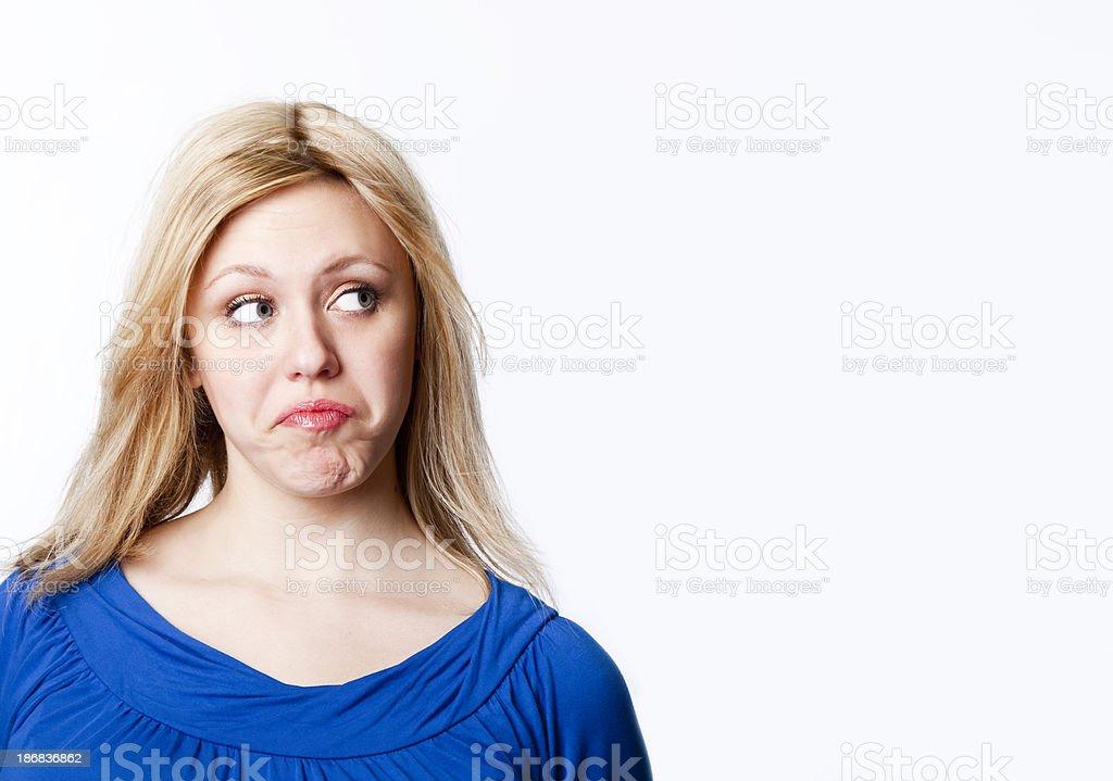 woman expressing negativity royalty-free stock photo