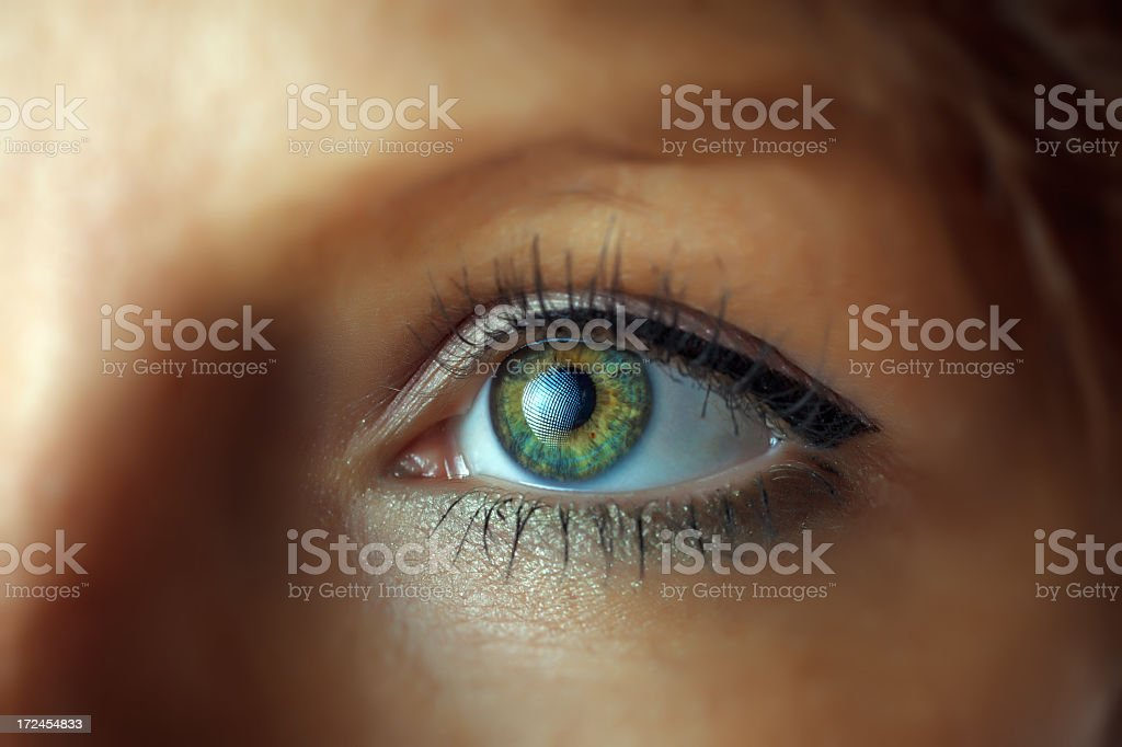 Woman eye royalty-free stock photo