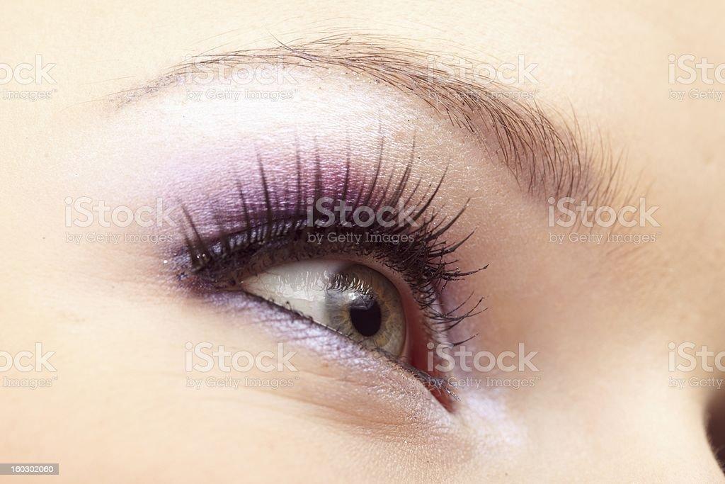 Woman eye with  fashion make-up royalty-free stock photo