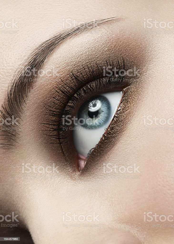 Woman eye with make-up royalty-free stock photo