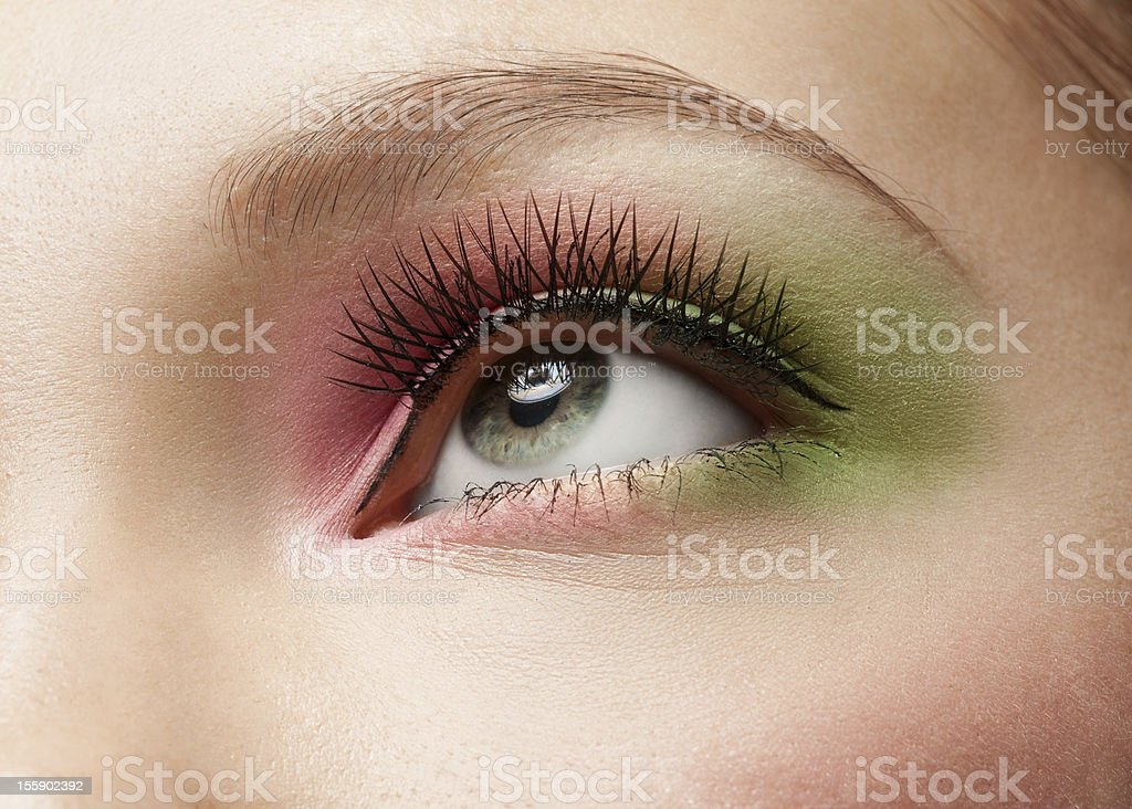 Woman eye with makeup royalty-free stock photo