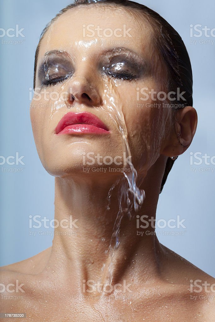 woman face in water royalty-free stock photo