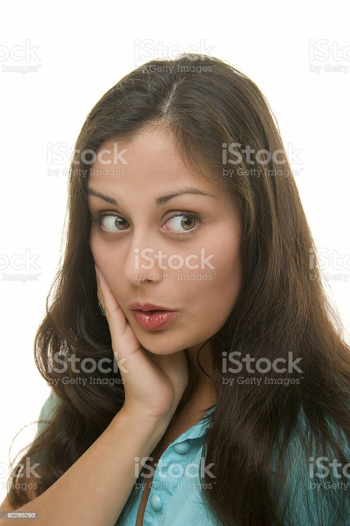 Woman Facial Expression Of Surprise royalty-free stock photo