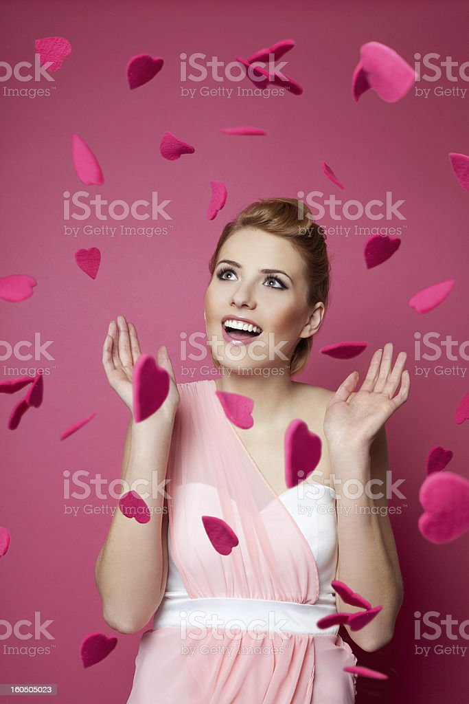 Woman fallen in love royalty-free stock photo