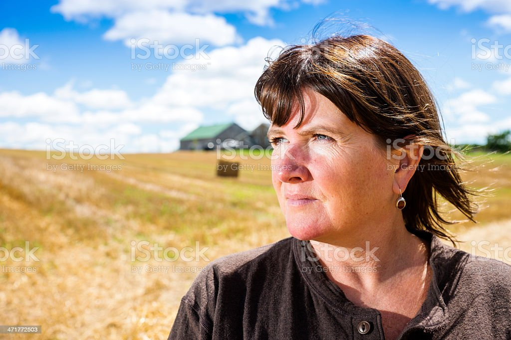 Woman farmer stock photo
