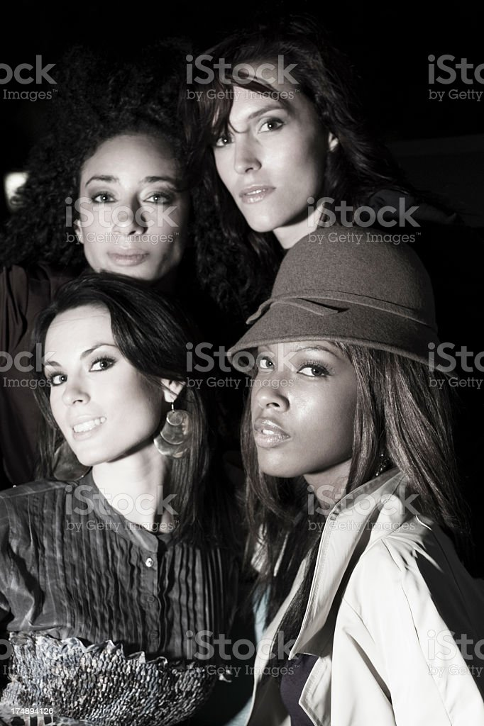 woman fashion night retro royalty-free stock photo