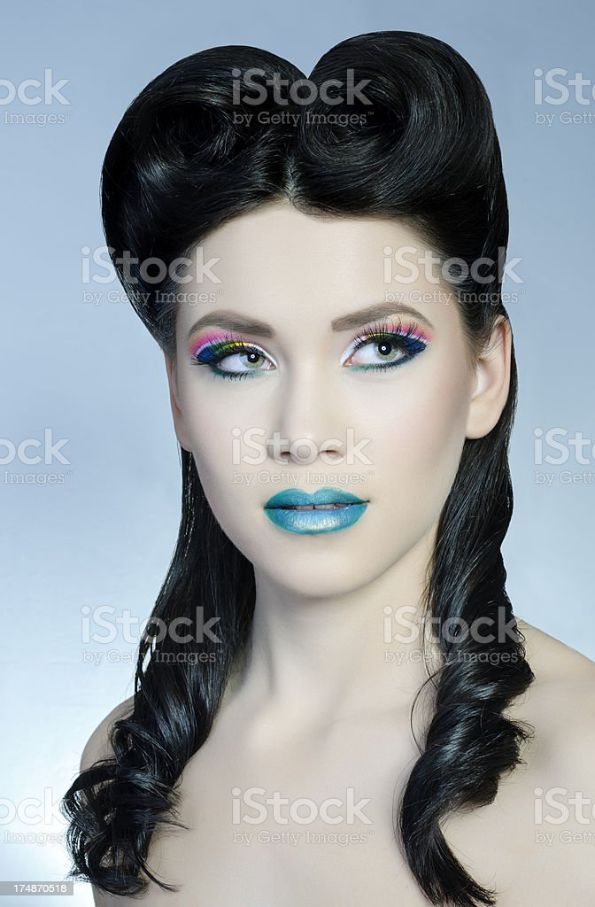 woman fashion portrait royalty-free stock photo