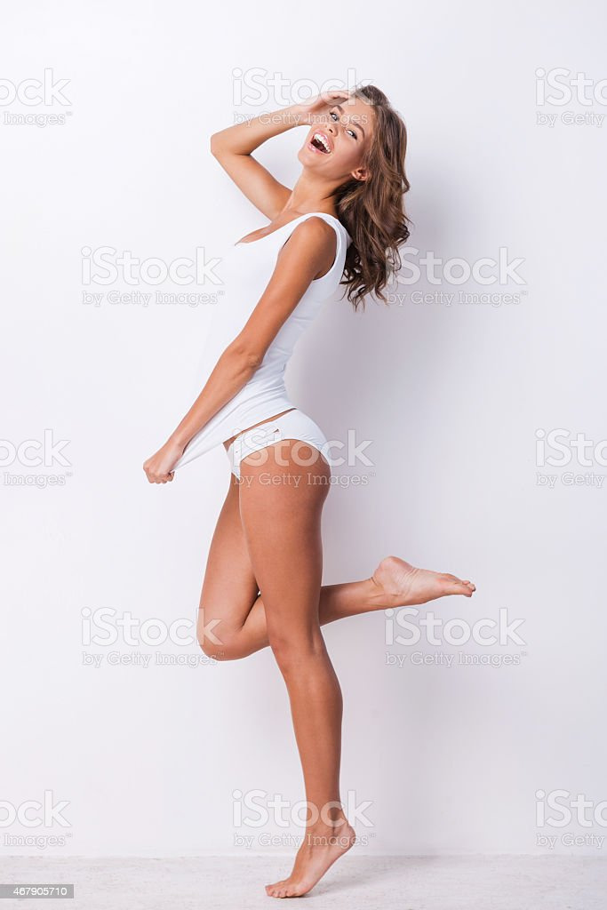 A woman feeling happy and free stock photo
