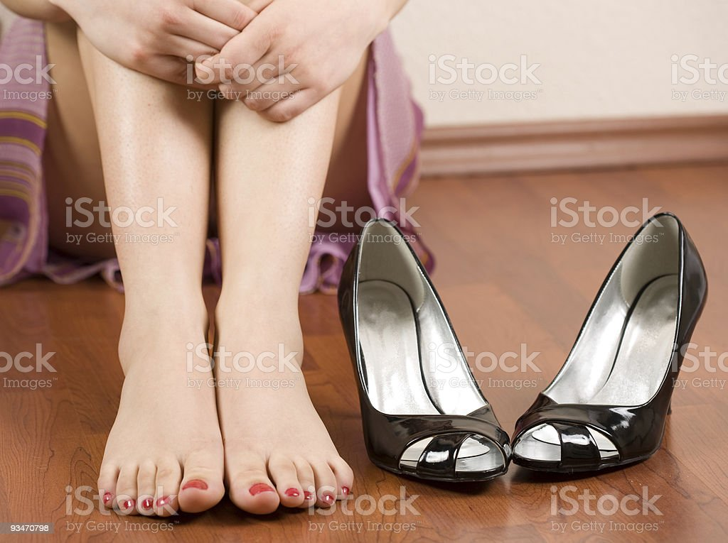 Woman feet and shoes royalty-free stock photo
