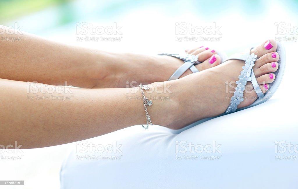 woman feet royalty-free stock photo