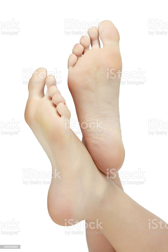 Woman feet stock photo