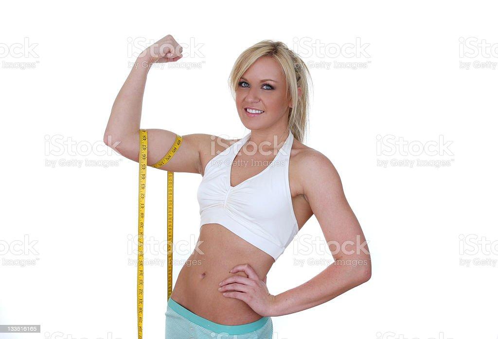 woman flexing biceps royalty-free stock photo