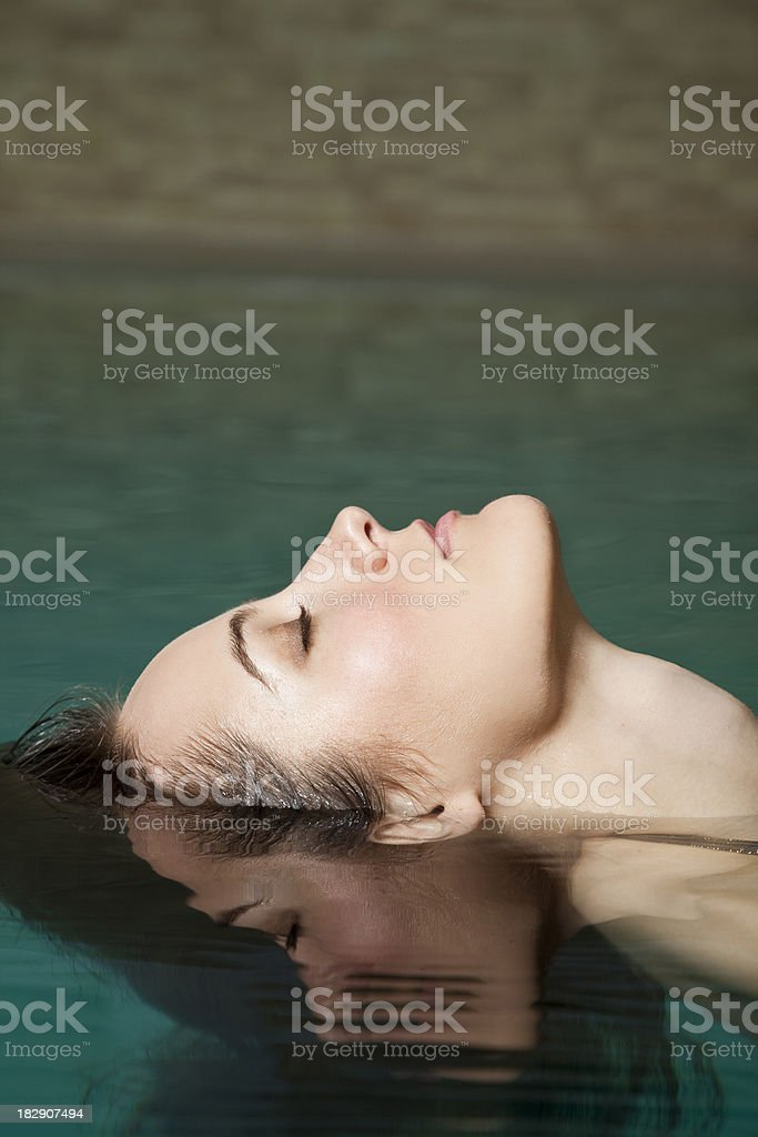 Woman floating royalty-free stock photo