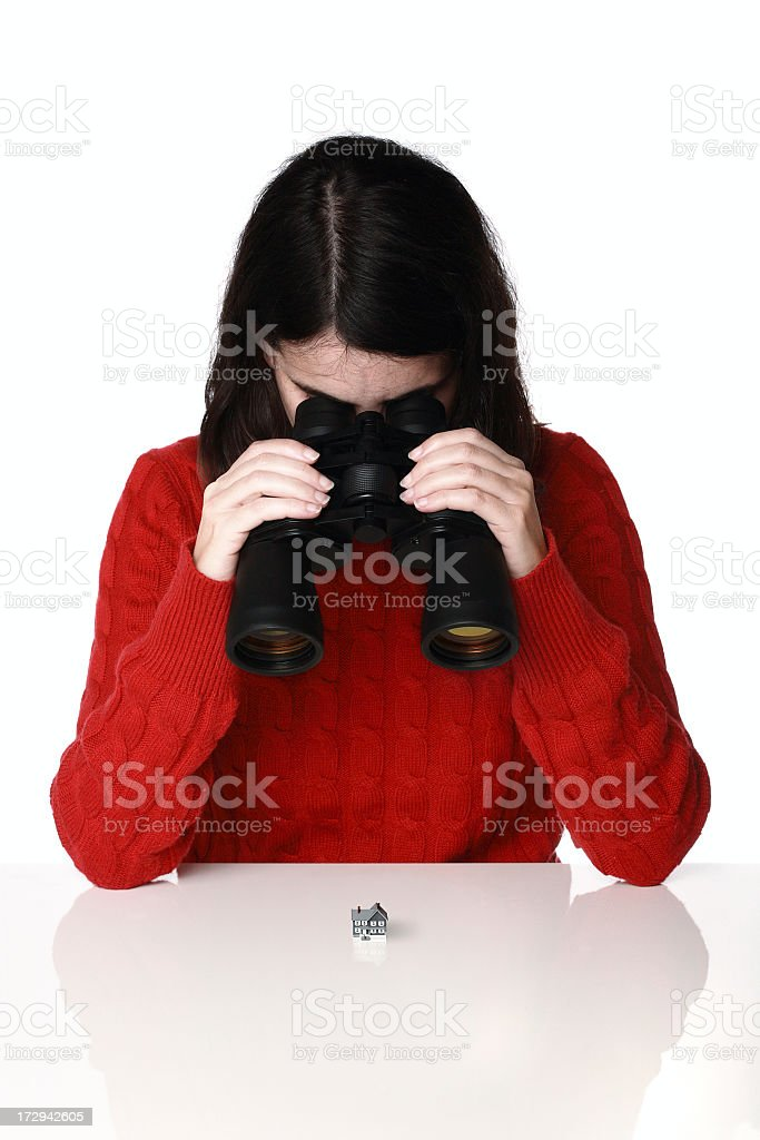 woman focusing in real estate business?? royalty-free stock photo