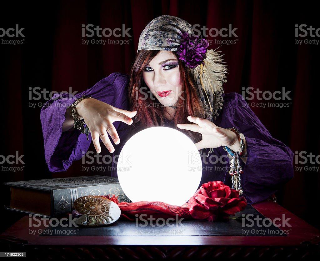 Woman Fortune Teller stock photo
