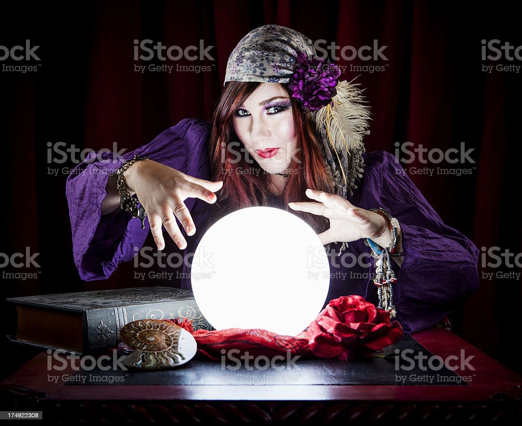 Woman Fortune Teller stock photo