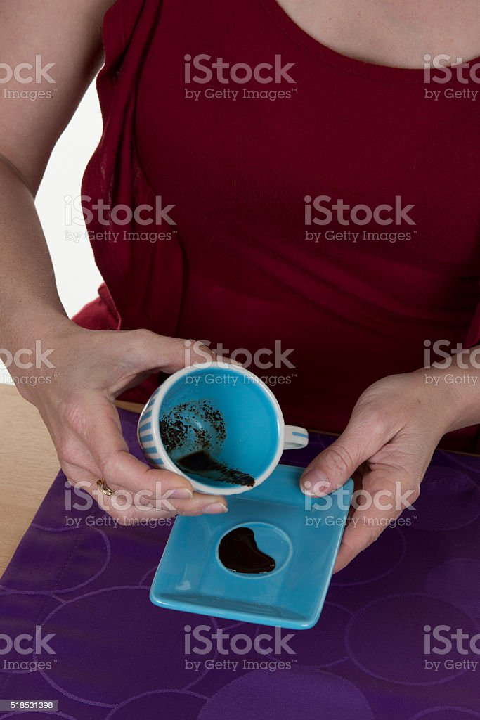 Woman - fortune teller reading fortune close up stock photo