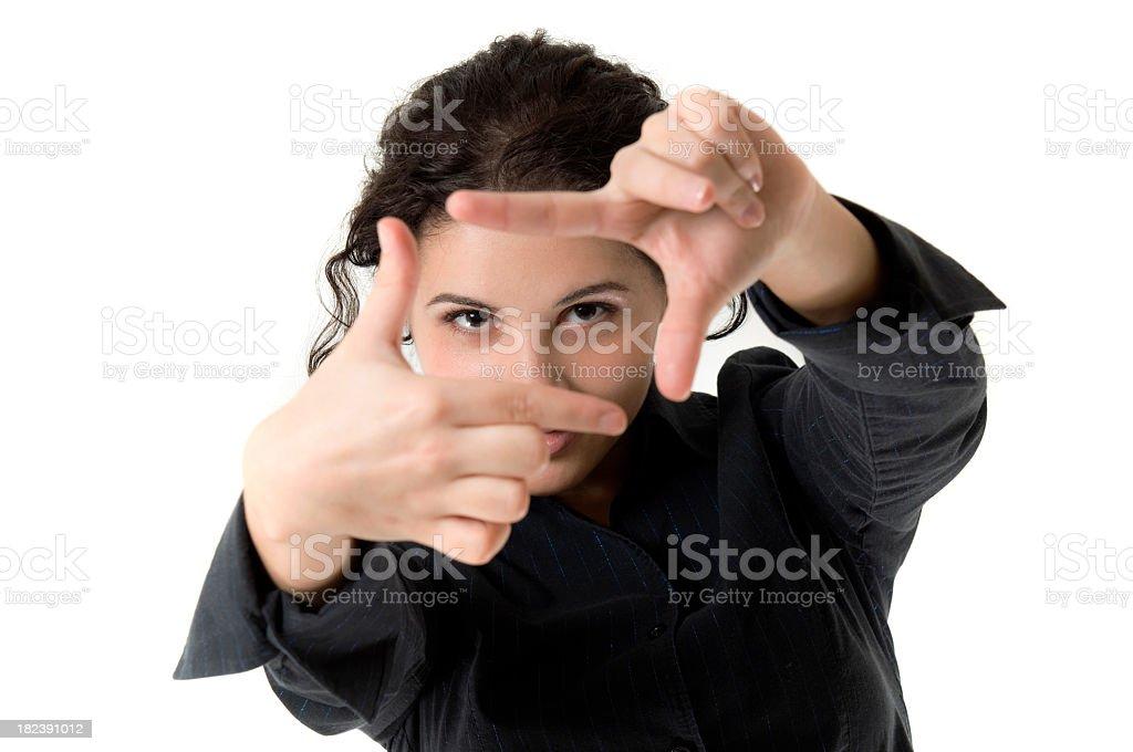 Woman framing royalty-free stock photo
