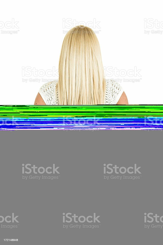 Woman from back stock photo