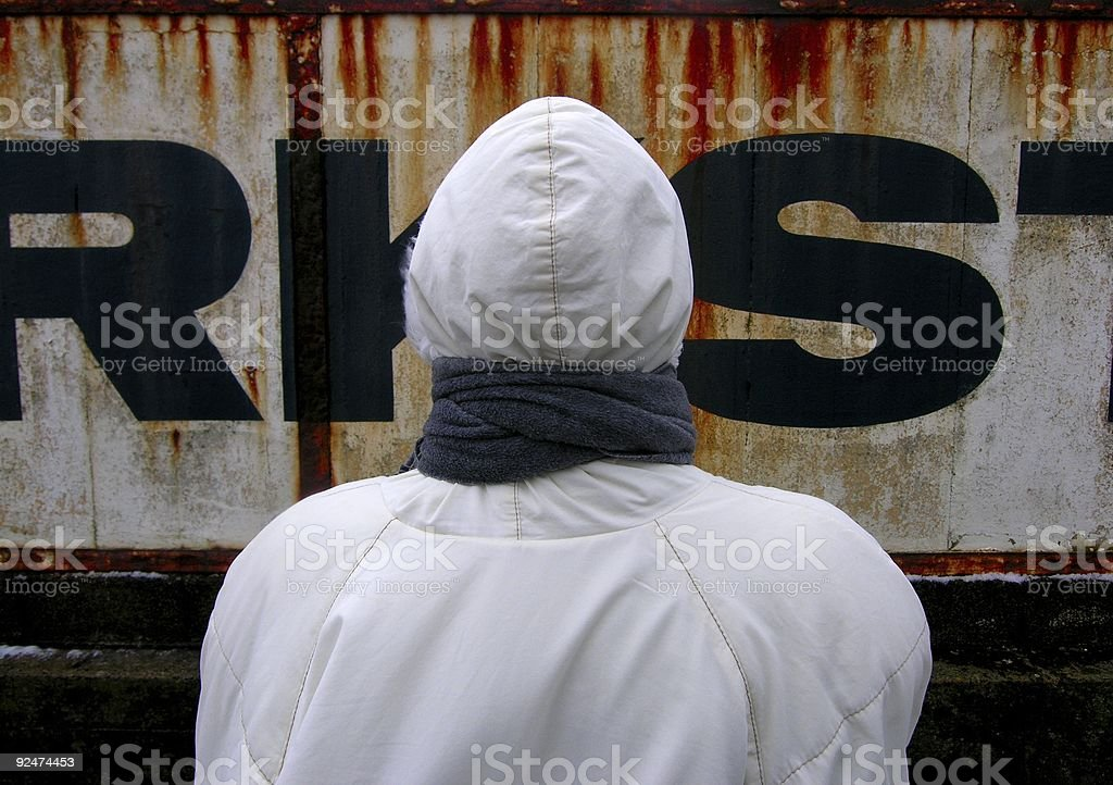 Woman from Behind royalty-free stock photo