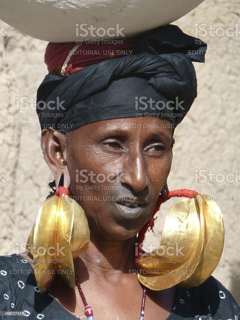 Woman from Fula Tribe in Mopti stock photo