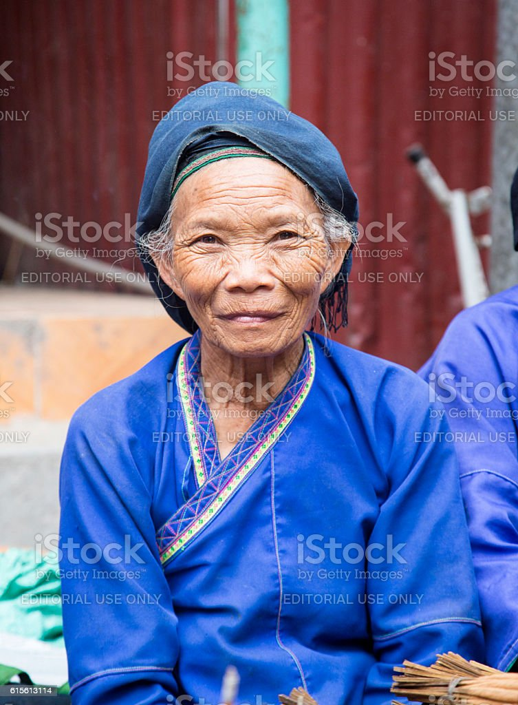 Woman from Tay minority group stock photo