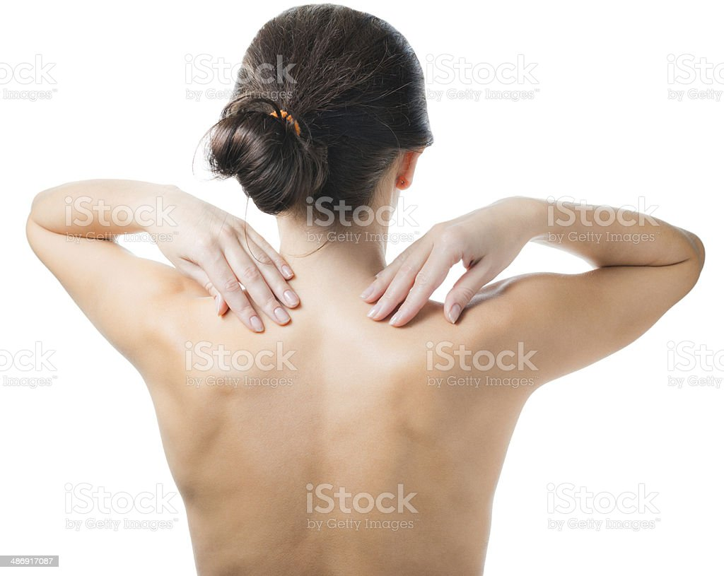 Woman from the back. royalty-free stock photo