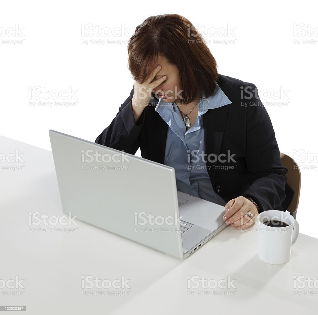 Woman Frustrated on the Computer royalty-free stock photo