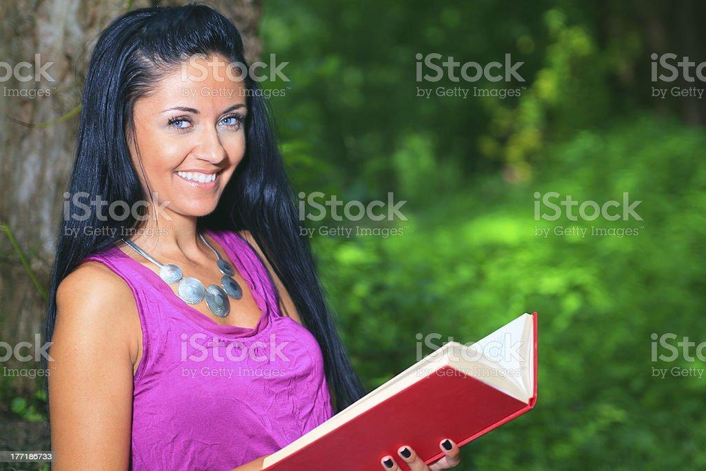 Woman - Fun Book royalty-free stock photo