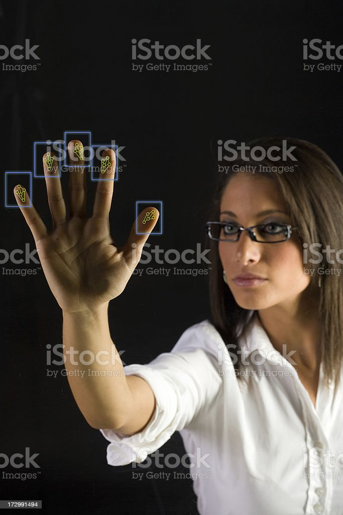 Woman Gaining Access royalty-free stock photo