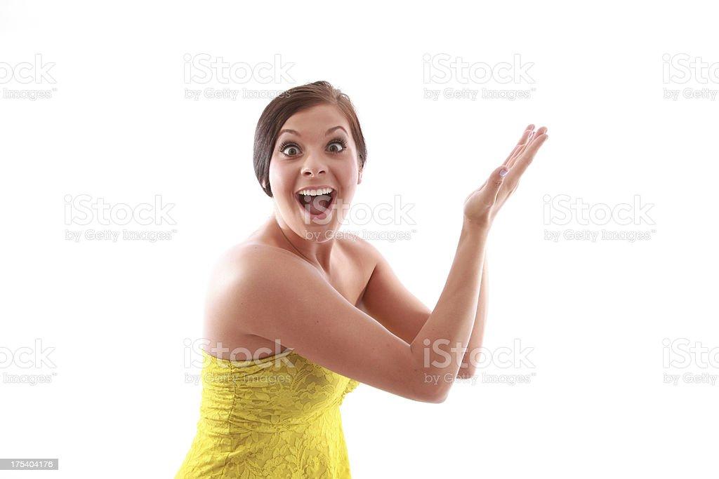 Mujer Gesticular foto de stock libre de derechos